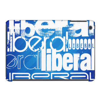 Liberal fresco; Rayas azules reales Fundas De iPad Mini Retina