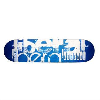 Liberal fresco; Rayas azules reales Tablas De Skate