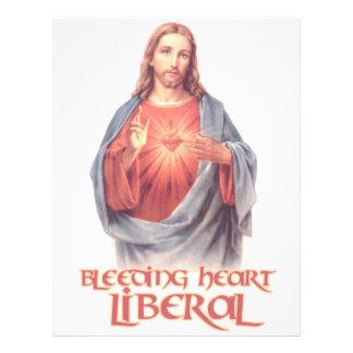 Liberal Jesús del corazón sangrante Membrete A Diseño