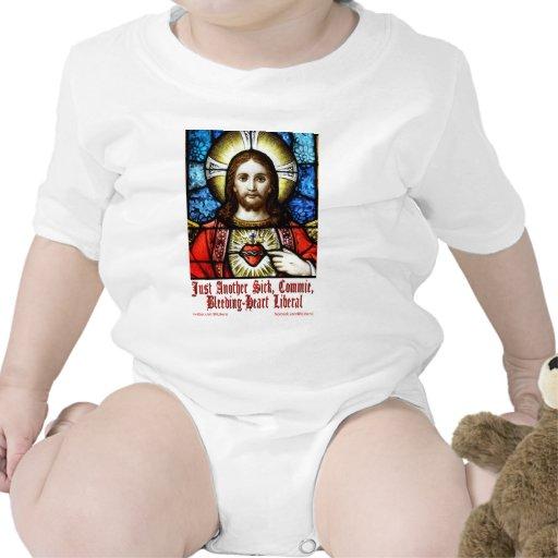 Liberal Jesús del corazón sangrante Traje De Bebé