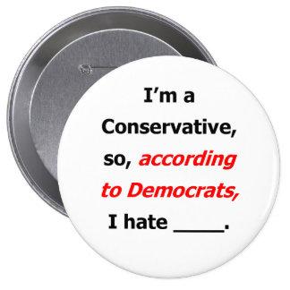 Liberal Lies Name Badge; Liberal Lies Button