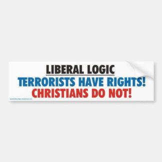 Liberal Logic Car Bumper Sticker