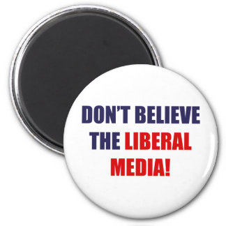 Liberal Media 2 Inch Round Magnet