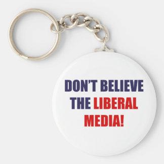 Liberal Media Keychain
