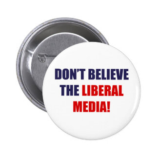Liberal Media Pinback Button