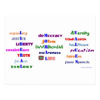 Liberal Moral Values Postcard