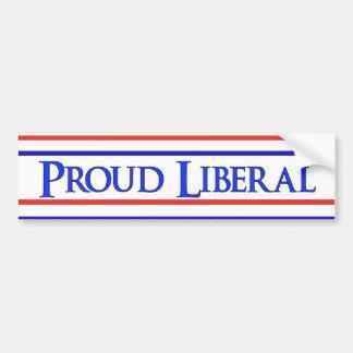 Liberal orgulloso pegatina de parachoque