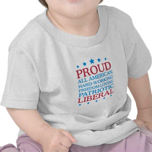 liberal orgulloso camiseta