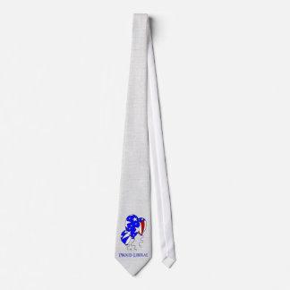 Liberal orgulloso corbata personalizada