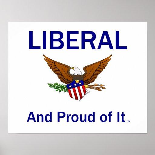 Liberal orgulloso de la CAMISETA Póster