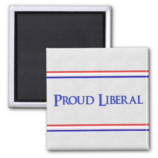 Liberal orgulloso imán cuadrado