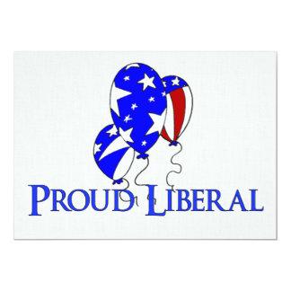 """Liberal orgulloso invitación 5"""" x 7"""""""