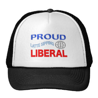 ¡Liberal orgulloso! Personalice el fondo Gorras De Camionero
