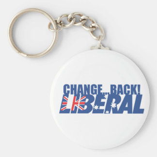 Liberal Party of Australia Basic Round Button Keychain