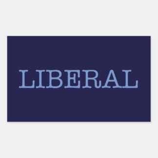 Liberal Rectangular Pegatina