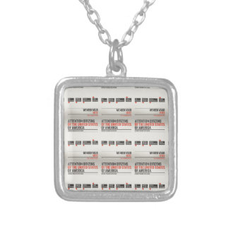 Liberal Policies Have Failed Square Pendant Necklace