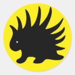 Liberal Porcupine Sheet - M1 Classic Round Sticker