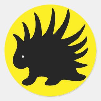 Liberal Porcupine Sheet - M1 Pegatina Redonda