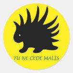 Liberal Porcupine Sheet - M3 Pegatina Redonda
