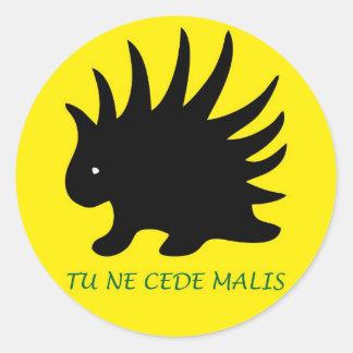 Liberal Porcupine Sheet - m3 Classic Round Sticker