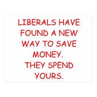 liberal savings postcard