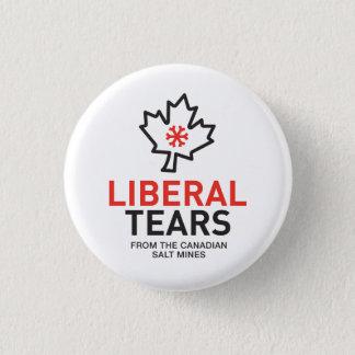 Liberal Tears Canada Maple Leaf Trudeau Red Pinback Button