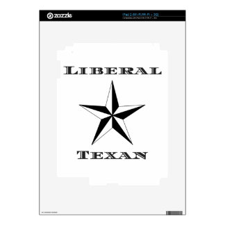 Liberal Texan Black and White Decals For iPad 2