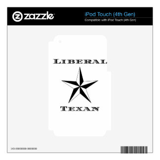 Liberal Texan Black and White iPod Touch 4G Decal