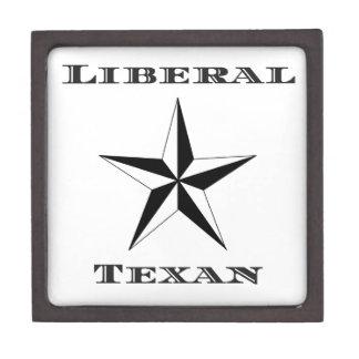 Liberal Texan Black and White Jewelry Box