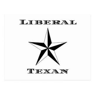 Liberal Texan Black and White Postcard