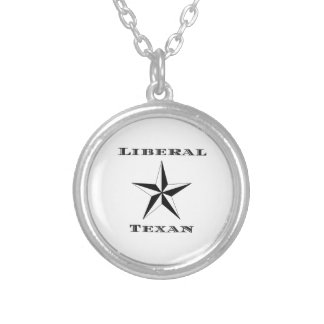 Liberal Texan Black and White Round Pendant Necklace