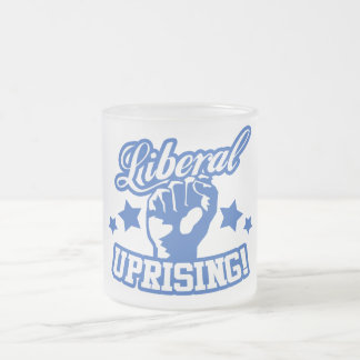 Liberal Uprising! Frosted Glass Coffee Mug
