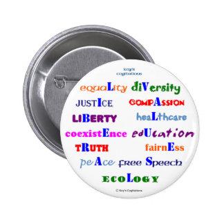 Liberal Values Button