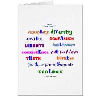 Liberal Values Card