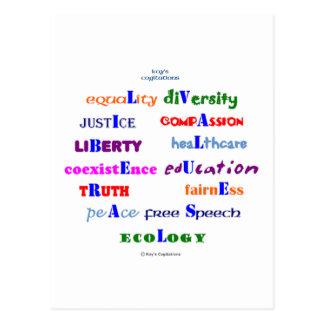 Liberal Values Postcard