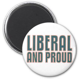 Liberal y orgulloso imanes de nevera