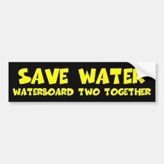 Liberales antis antis de Waterboarding Obama Pegatina De Parachoque