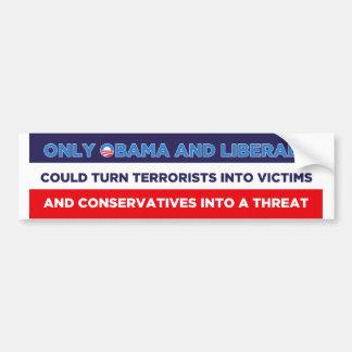 Liberales de Obama Pegatina De Parachoque