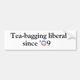liberales del Té-empaquetamiento Etiqueta De Parachoque