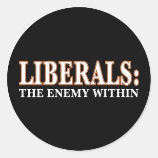 Liberales - el enemigo dentro pegatinas redondas