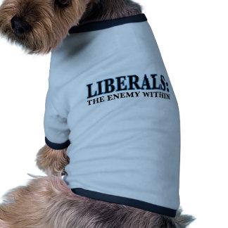 Liberales - el enemigo dentro camisetas de perro