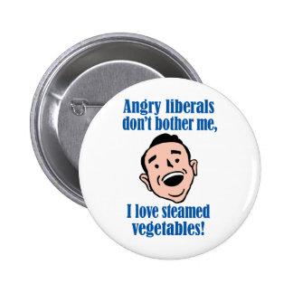 Liberales enojados contra verduras cocidas al vapo pin