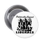 Liberales político correctos 3 monos pin redondo 5 cm