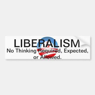 Liberalism II Car Bumper Sticker