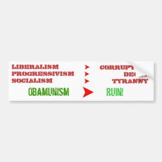 Liberalism is a a sociopathic disease bumper sticker