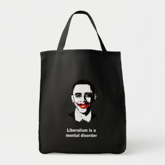LIBERALISM IS A MENTAL DISORDER TOTE BAGS
