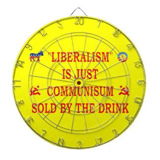 LIBERALISM IS JUST COMMUNISM DART BOARDS