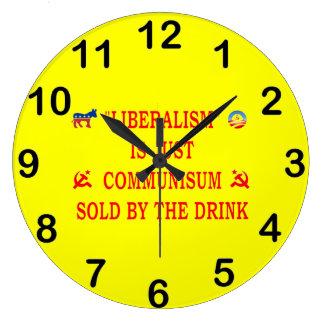 LIBERALISM IS JUST COMMUNISM WALLCLOCKS