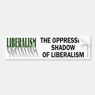 Liberalism/Socialism-bumper Car Bumper Sticker