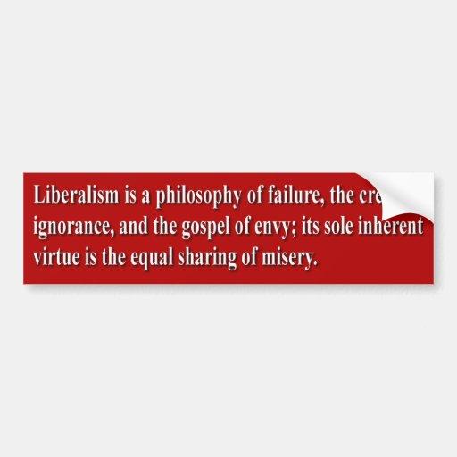 Liberalismo definido pegatina para auto